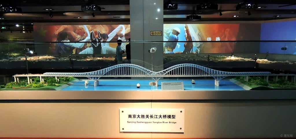 南京大勝關鐵路大橋模型